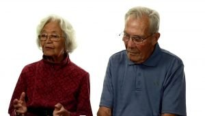 Elderly Couple sharing their testimony