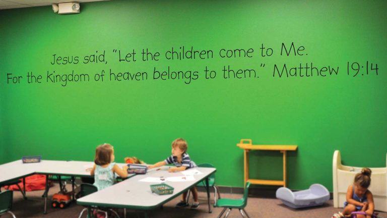 Fun and safe nursery ministry at Greenville church