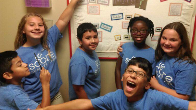 kids at SCORE after-school programs in Taylors, SC