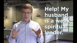 Peter Hubbard answering a question about spiritual leadership at home