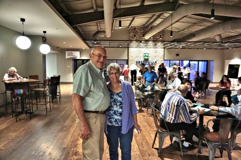Elderly senior couple at North Hills Church event