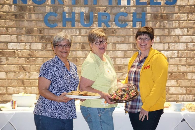 Senior women with refreshments at North Hills Church in Greenville